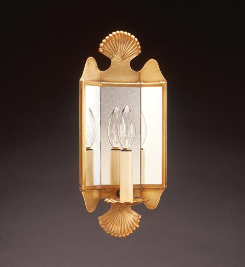 Crimp Top and Bottom Mirrored Wall Sconce 126 - FLC Select