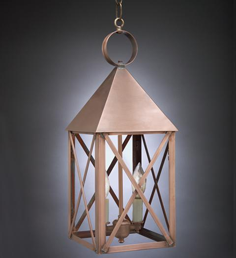 York Pyramid Top X Bars Outdoor Hanging Lantern 7042 - FLC Select