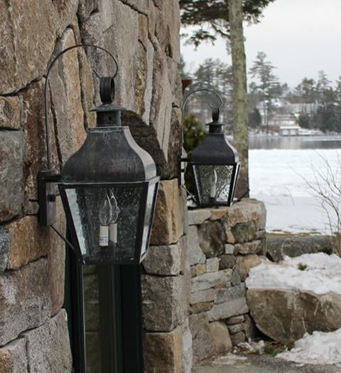 Stanfield Curved Top With Top Scroll Outdoor Wall Lantern 7637 - FLC Select