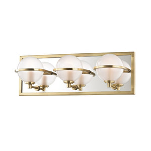 Axiom Three Light Bath Wall Sconce 6443