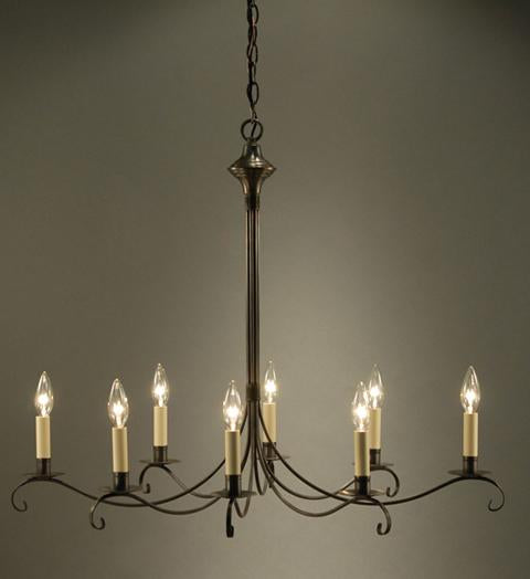 Chandelier Hanging Oval S Arms with Curl 983V - FLC Select