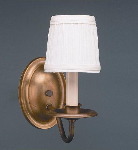 Wall Sconce 1 J-Arm with Eggshell Shade 117 - FLC Select