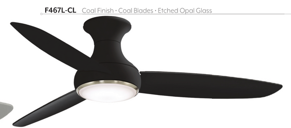 "Concept III 54"" Indoor / Outdoor SMART Hugger Fan with LED Light, F467L"