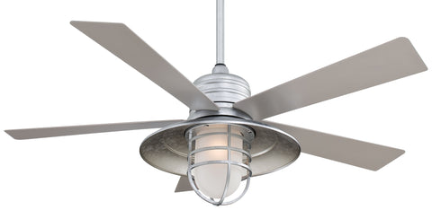 Railman Exterior Fan with Integrated Halogen Light, F582