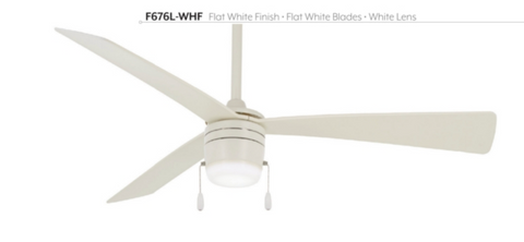 "Vital 44"" Interior Pull Chain Fan with LED Light, F676L"