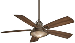 Groton Exterior Fan with Integrated Halogen Light, F681
