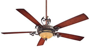 "Napoli II 68"" Interior Fan with Integrated Halogen Light Kit, F715"