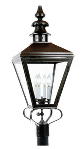 "4120 Woodruff Fontaine Large 16.5""W Outdoor Post/Pier Lantern"