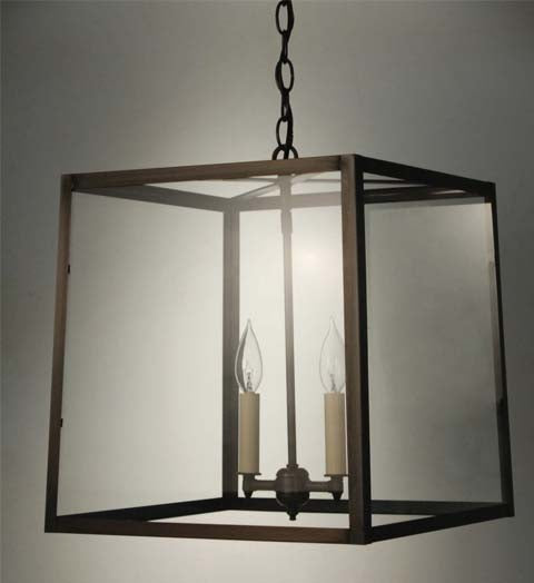 Transitional Square Trapezoid Hanging Indoor Lantern ST1415 - FLC Select