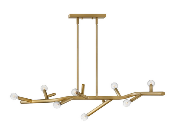 Twiggy Eight Light Linear Chandelier 37095
