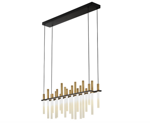 Echo Large LED Linear Chandelier FR30705