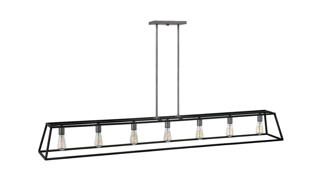 Fulton Seven Light Open Frame Linear Chandelier 3355