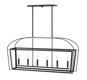 Selby Six Light Linear Chandelier 4054