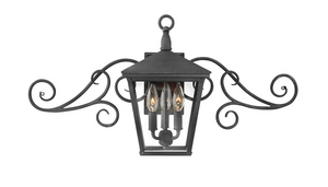 Outdoor Trellis Wall Lantern w/ Scroll 1433, 1436, 1439