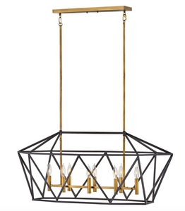 Theory Eight Light Linear Chandelier 3575