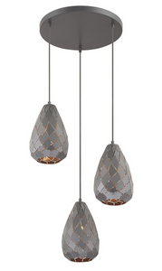 Onyx 3 Light Pendant Light
