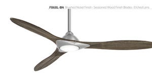 "Sleek 60"" Indoor SMART Fan with LED Light, F868L"