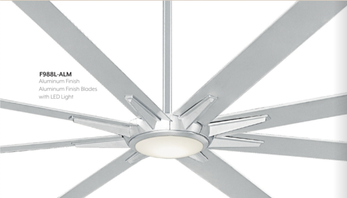 "Geant 110"" Exterior Fan with LED Light, F988L"
