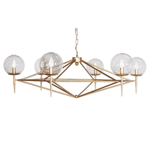 Rowan Chandelier with Hand Blown Glass Globes - FLC Select