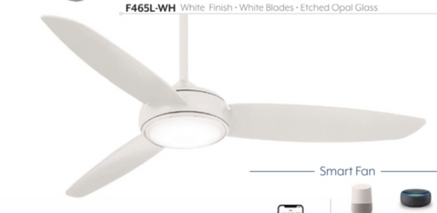 "Concept IV 54"" indoor / outdoor SMART Fan with LED Light, F465L"