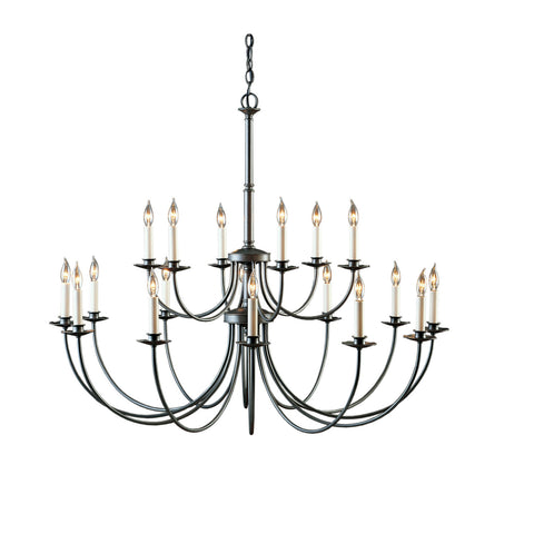 Simple Lines Large-Scale Chandelier w/ Candles 197144