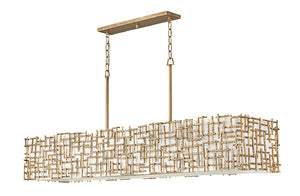 Farrah Ten Light Linear Chandelier FR33109