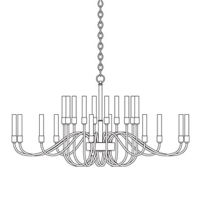 Lisse Large-Scale Chandelier w/ Candles 192043