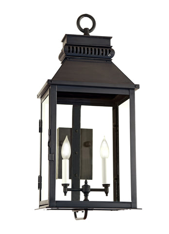"NMC 12""W Outdoor Wall Lantern with Optional Top Scroll"