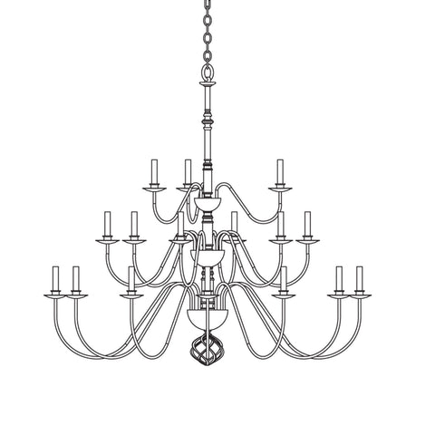Ball Basket Large-Scale Chandelier w/ Candles 191548