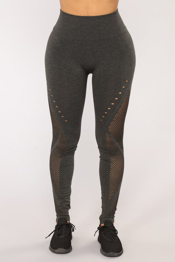 Charcoal Leggings In Burst Design