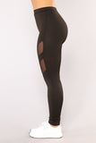 Leggings in Black with Mesh Design