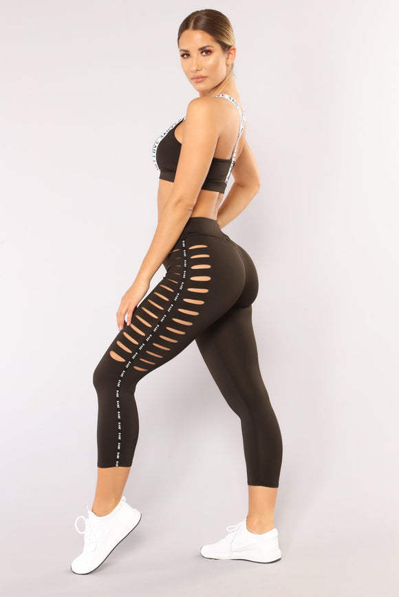 Babe In Training Leggings - Black