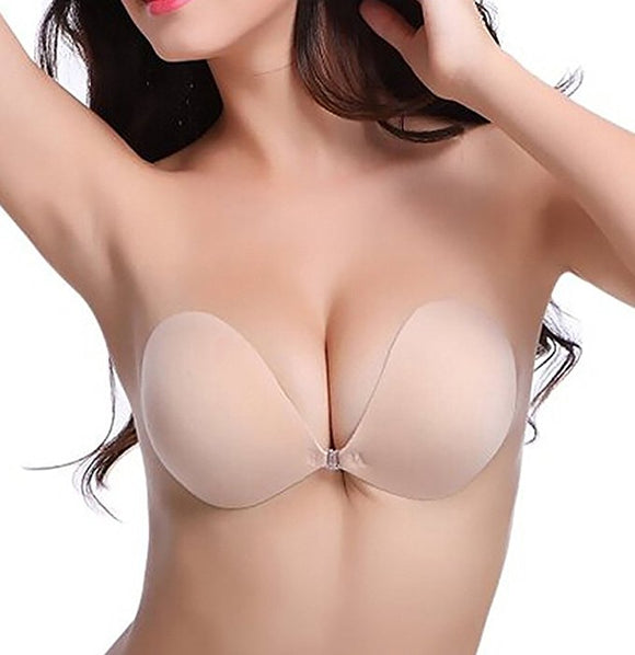 Eomenie Sticky Bra Strapless Backless Push up Bra Invisible Adhesive Bra for Women