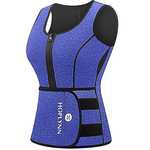 HOPLYNN Neoprene Sauna Sweat Vest, Waist Trainer Slimming Vest For  Women