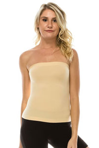Kurve Medium Length Ribbing Side Seamless Tube  Top