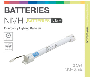 NiMH 3 Cell 3.6V Stick Emergency Lighting Battery