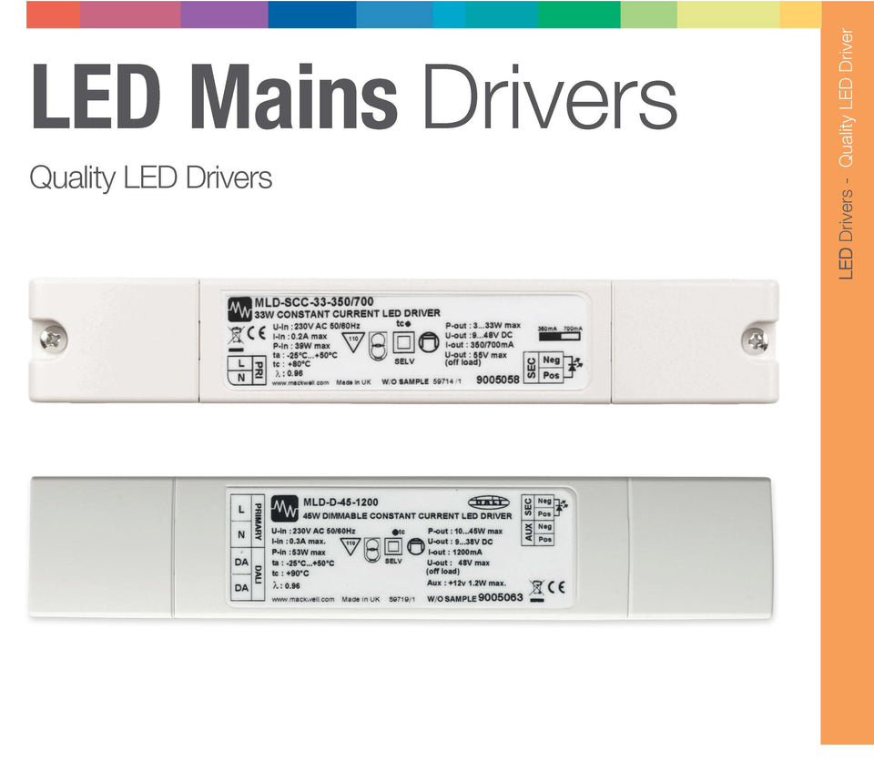LED Mains Driver 33V Switchable 500/1000mA Contant Current