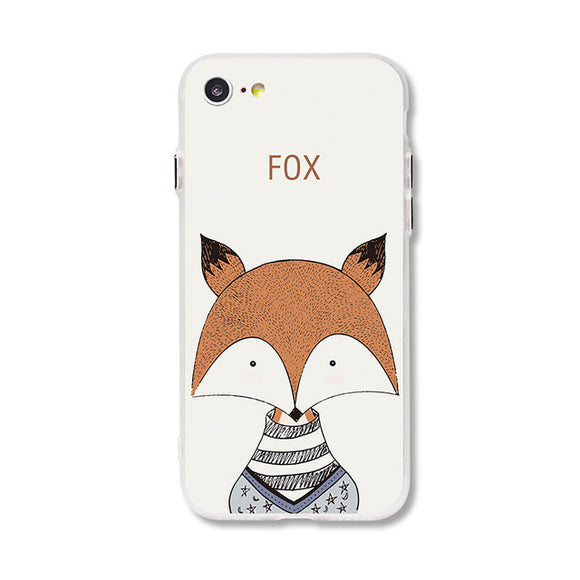 Primitive Cartoon Fox iPhone Case
