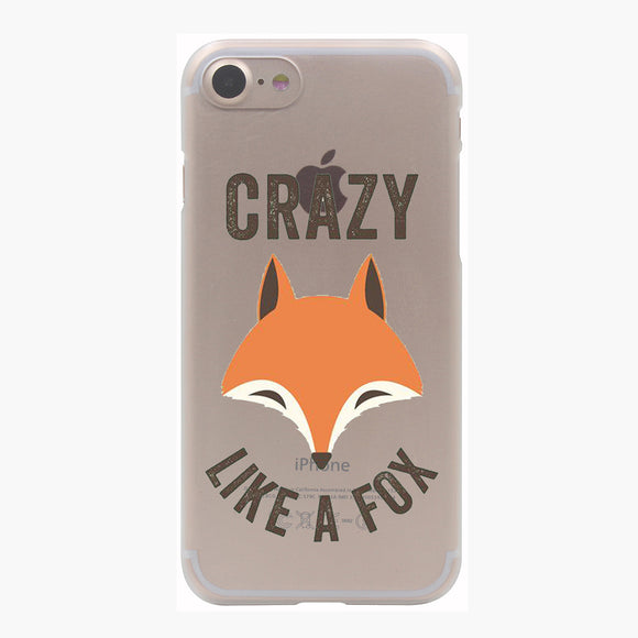 Crazy Like A Fox - iPhone Case