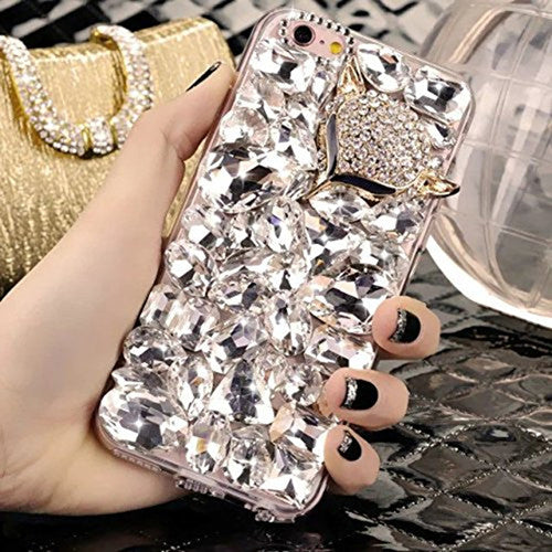 Rhinestone Fox and Crown iPhone Case 3 Styles