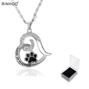 Silver Always In My Heart Pendant Necklace
