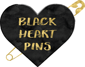 Black Heart Pins