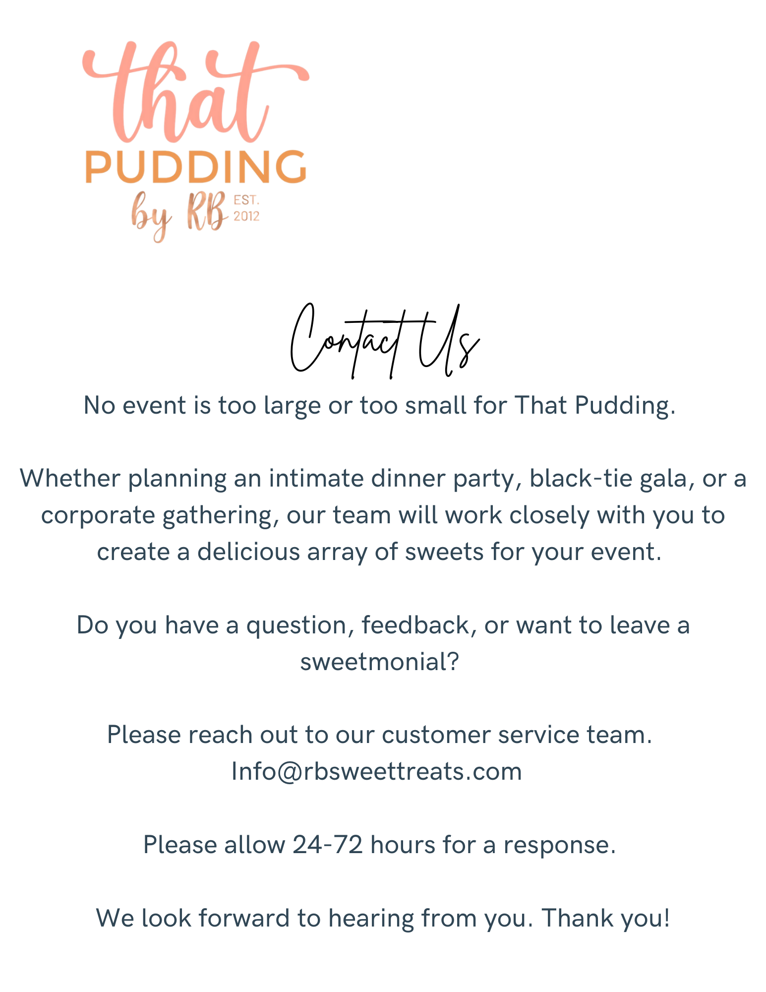 Contact That Pudding