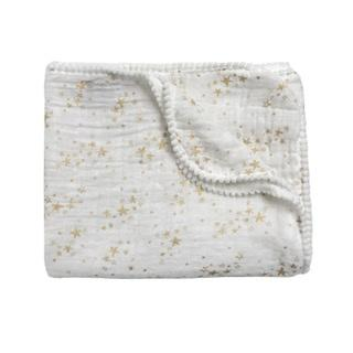 Stars Summer Blanket / Swaddle Gold