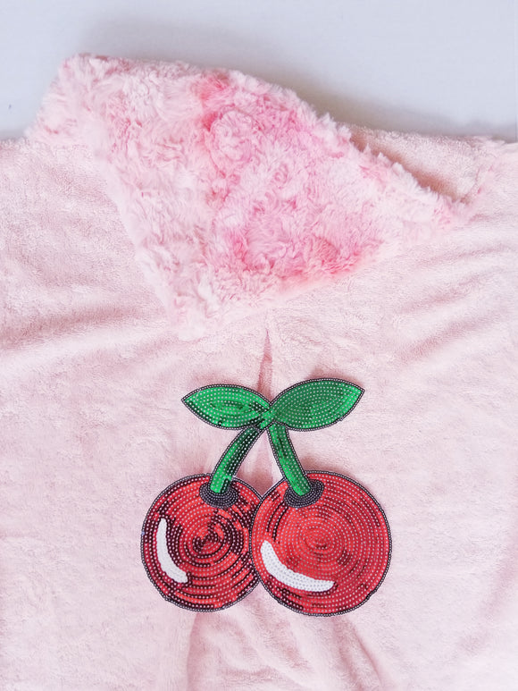 Cherry Crush Minky Hooded Towel