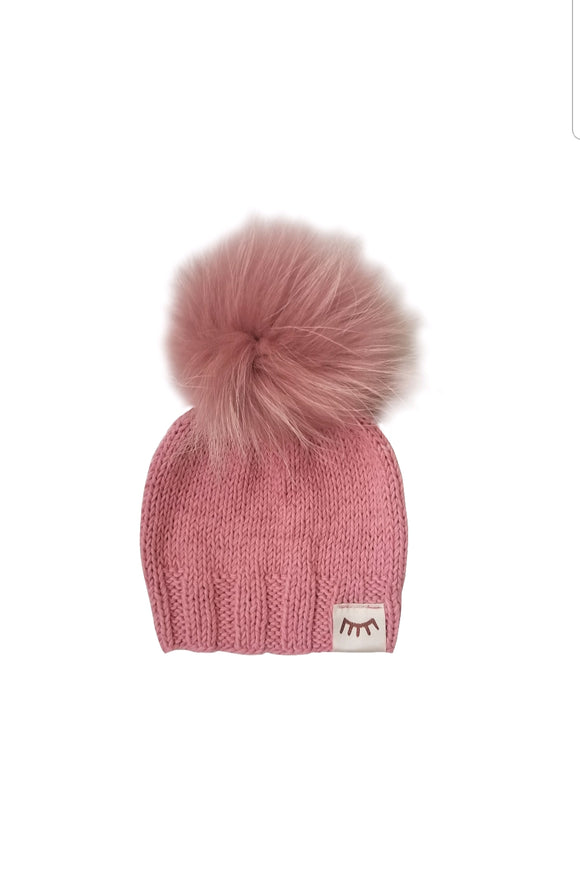 Monpom Blush knit hat 0-6 months
