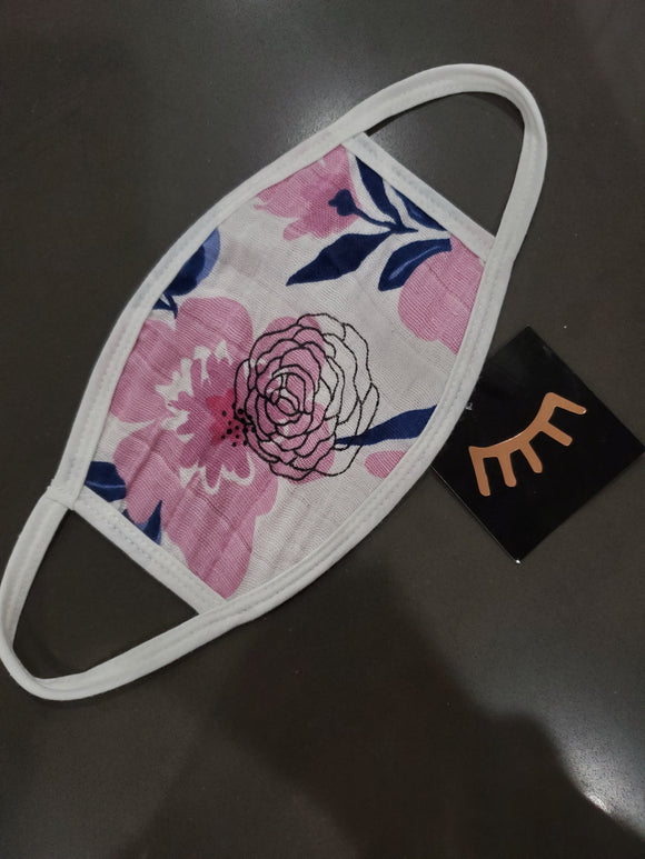 Floral Pink Face Mask- Adults & Kids