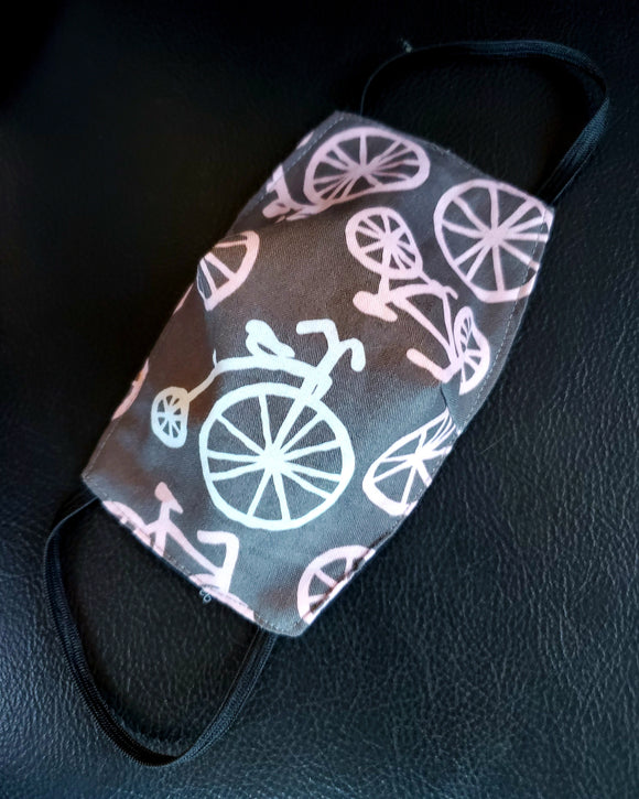 Pink Bike Face Mask - Toddler & Kids