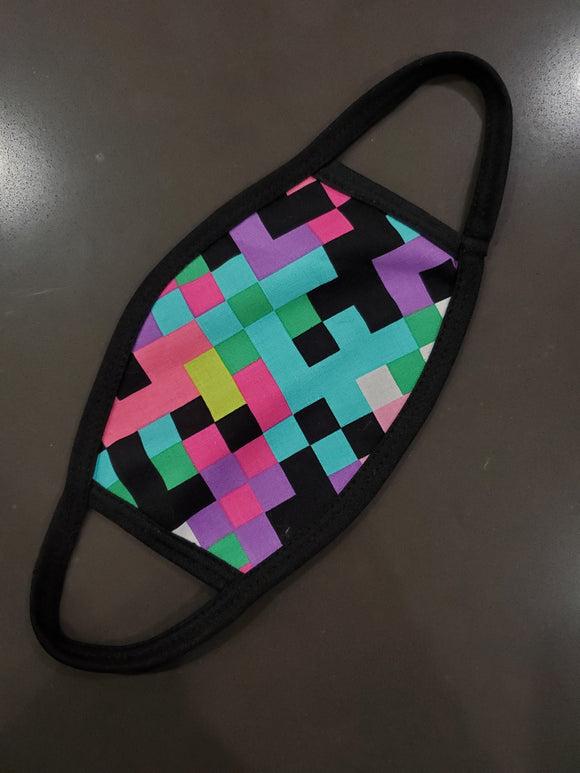 Pink Matrix Face Mask - Kids