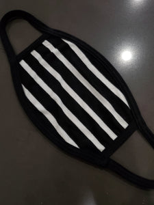 Black&White Stripes Face Mask - Adults & Kids